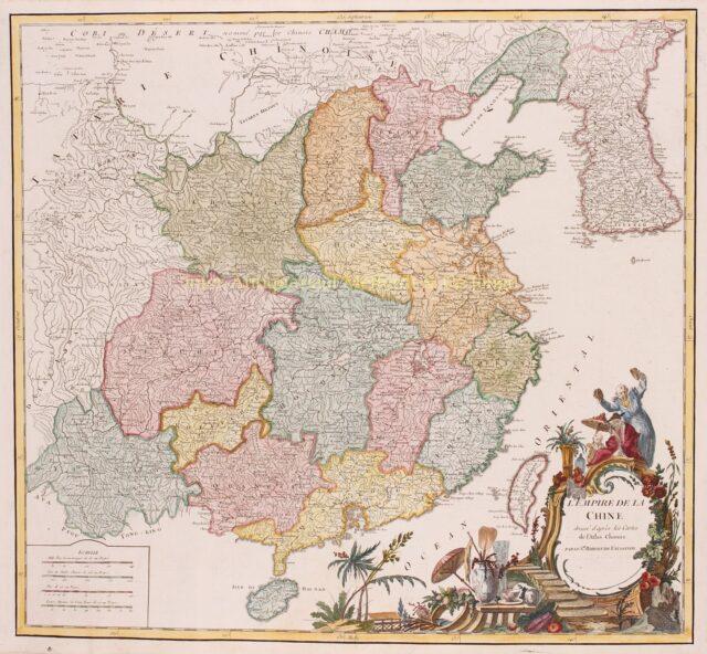 18e-eeuwse kaart van China