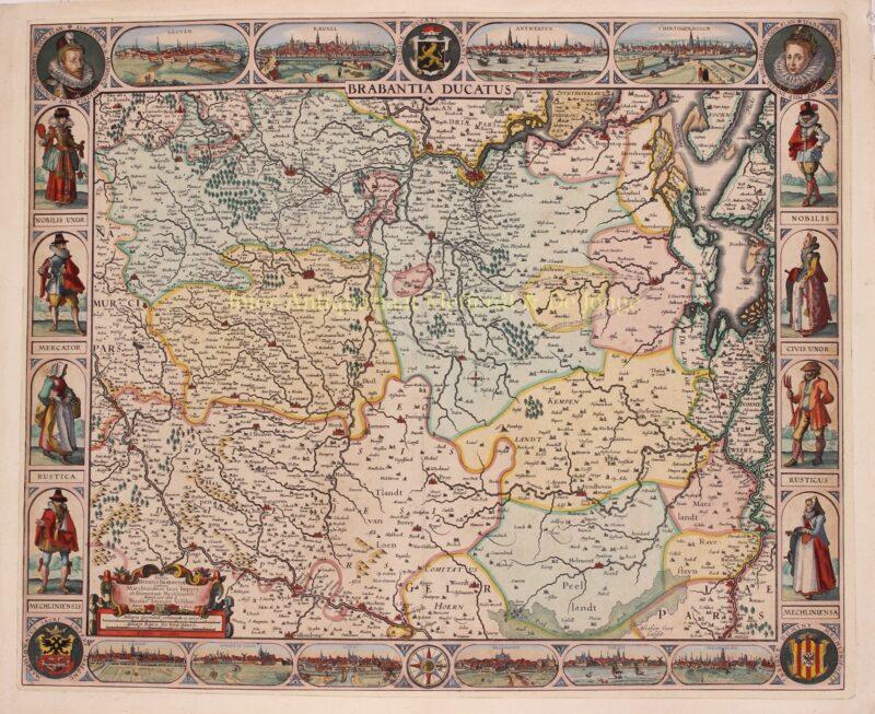 Duchy of Brabant – Abraham Goos + Claes Jansz. Visscher, 1622