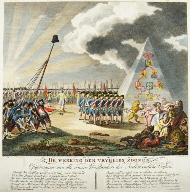 Patriottenbeweging - zinneprent uit 1784