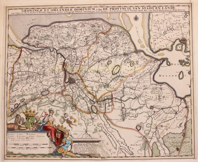 oude kaart van Groningen