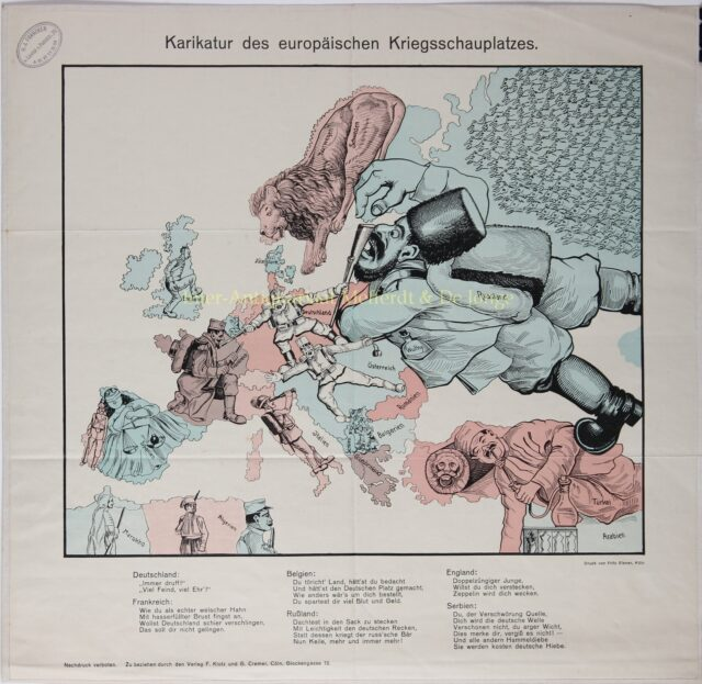 WWI German propaganda map