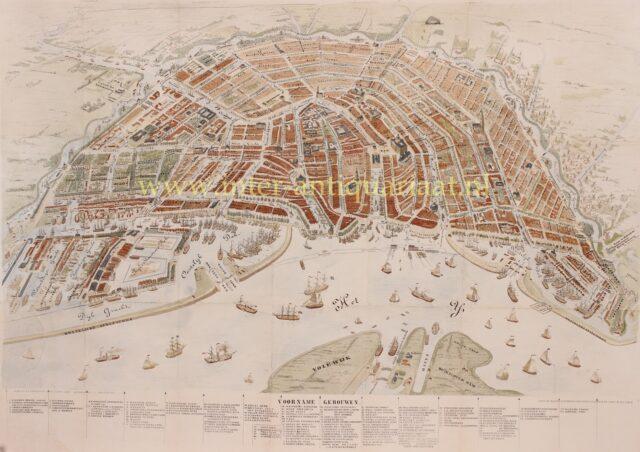 19e-eeuwse kaart van Amsterdam