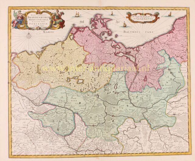 18th century map of Brandenburg-Pruissia