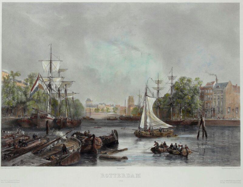 Rotterdam, Leuvehaven – Sabatier, c. 1850