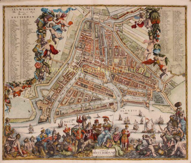 rijk gedecoreerde kaart van Rotterdam