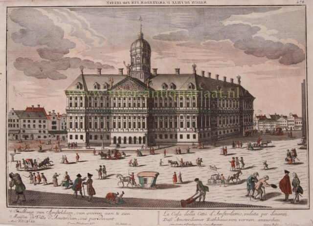 Paleis op de Dam in de 18e-eeuw Oude Stadhuis