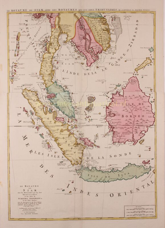 18e-eeuwse kaart Zuidoost-Azie