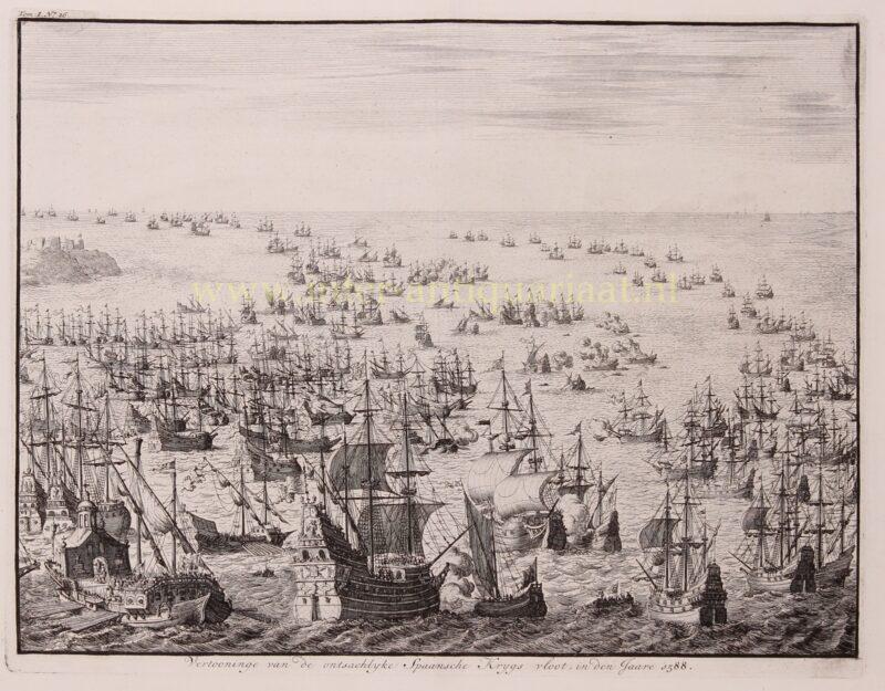 Defeat of the Invincible Spanish Armada – Jan Luyken, 1730-1738
