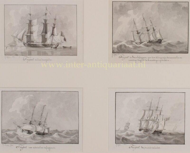 Four frigates – Joseph Sipkes, 1830-1831