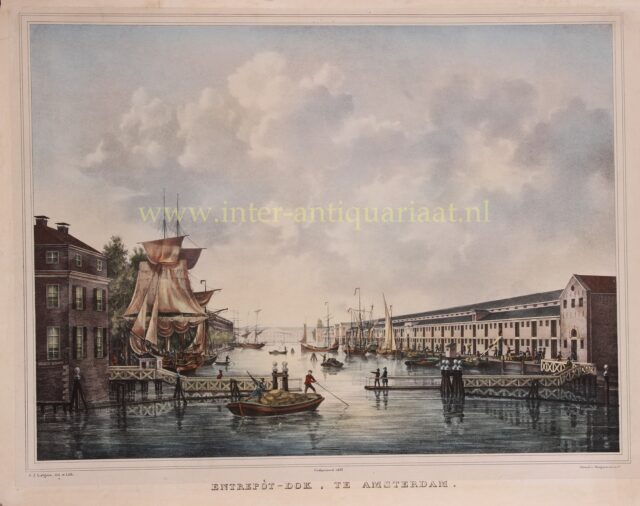 Entrepotdok Amsterdam 19e-eeuw