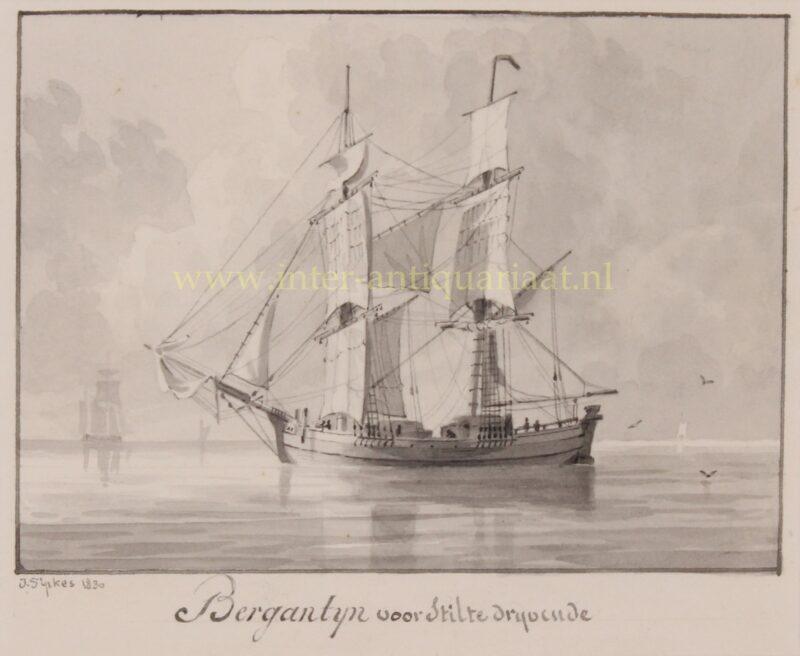 Brigantine (ship) – Joseph Sipkes, 1830