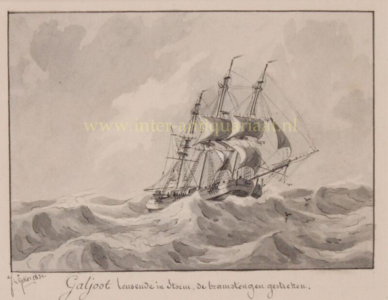Galiot (ship) – Joseph Sipkes, 1831