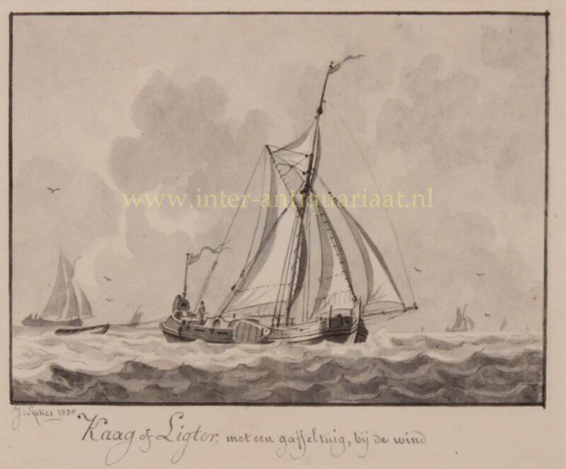 Dutch kaag (ship) – Joseph Sipkes, 1830