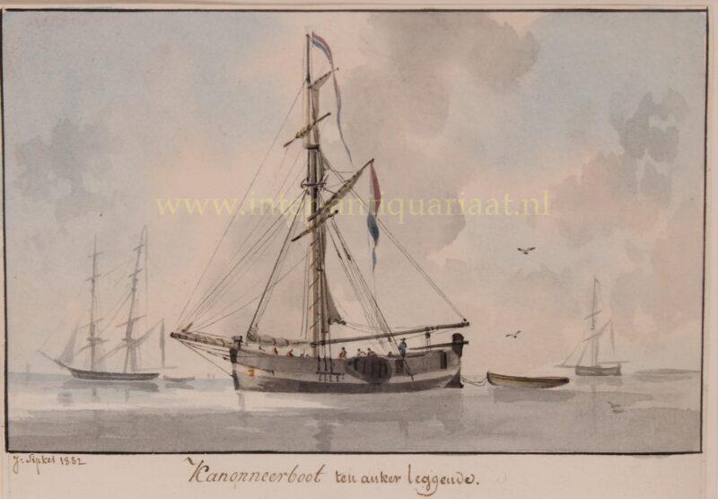 Dutch gunboat- Joseph Sipkes, 1832