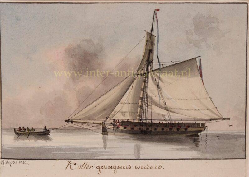 Cutter (ship) – Joseph Sipkes, 1832