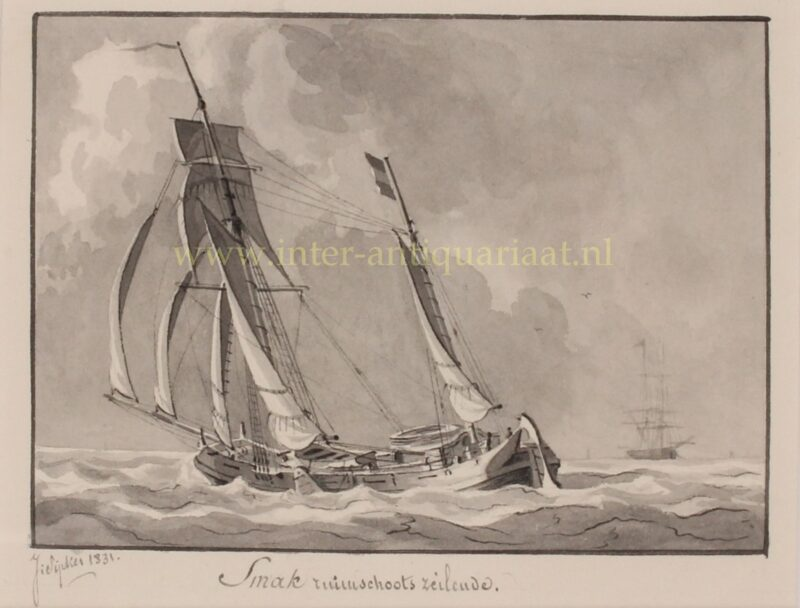 Dutch smack (ship) – Joseph Sipkes, 1831