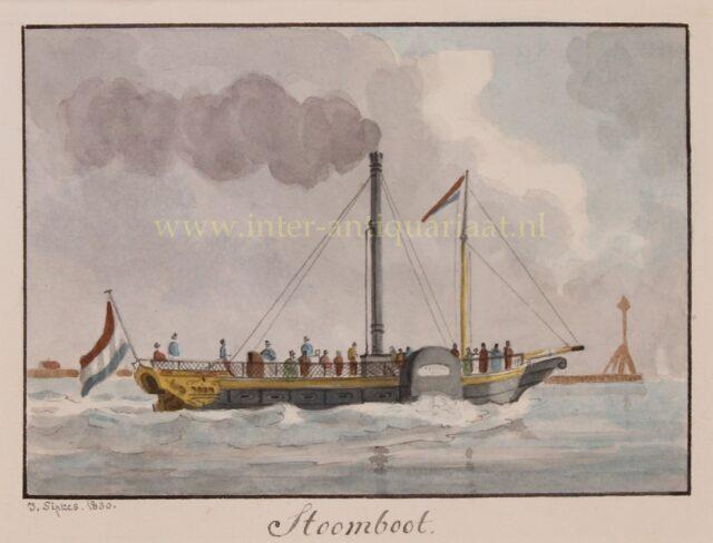 Dutch 19th century paddle steamer