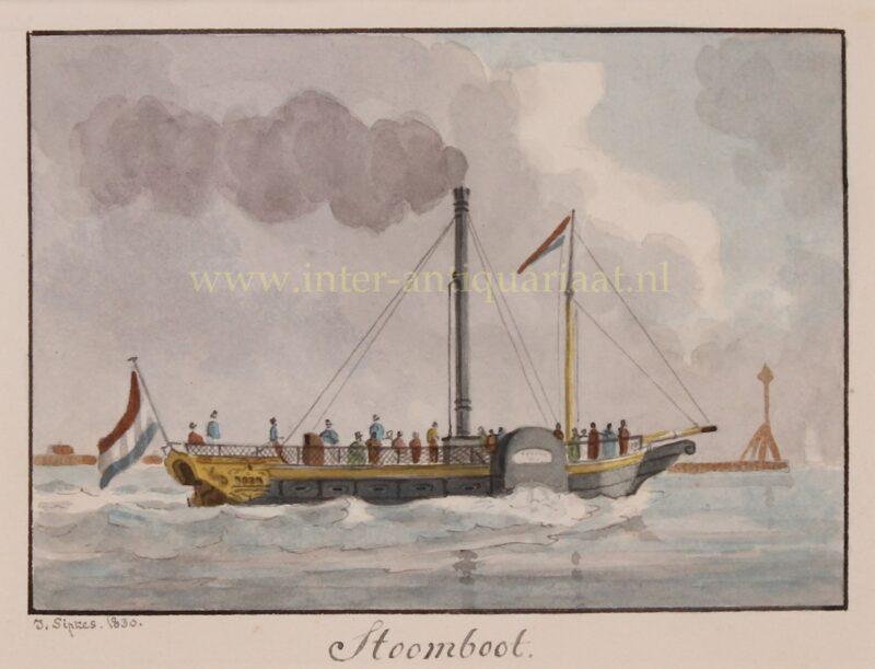 Dutch paddle steamer – Joseph Sipkes, 1830
