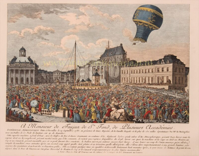 Ballooning, Montgolfier Brothers – Le Noir, 1783