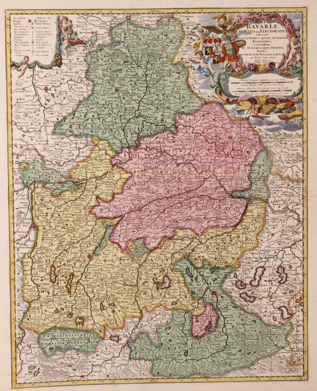 Bavaria (Bayern) – Nicolaes Visscher + Pieter Schenk, ca. 1720