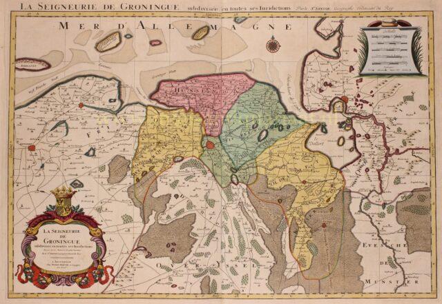 17e-eeuwse kaart van Stad en Lande van Groningen