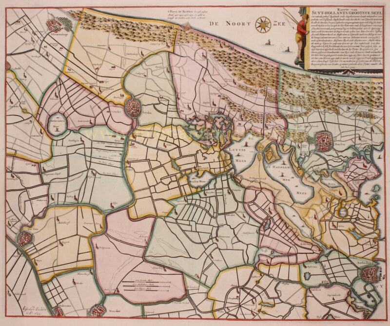 Leiden and environs – Claes Jansz. Visscher + Pieter van der Aa, 1724
