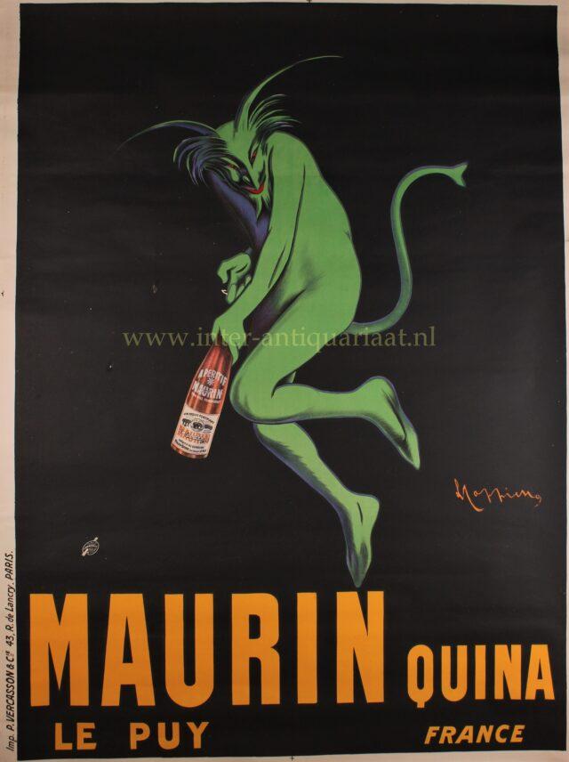 Maurin Quina original advertising poster by Leonetto Cappiello