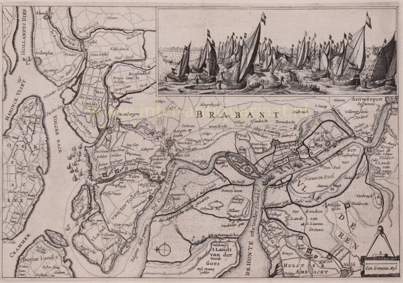 Eighty Years' War Battle of the Slaak – Claes Jansz. Visscher, 1631