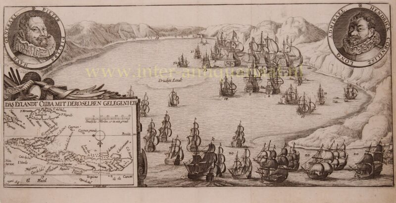 Battle in the Bay of Matanzas – Claes Jansz. Visscher, c. 1650