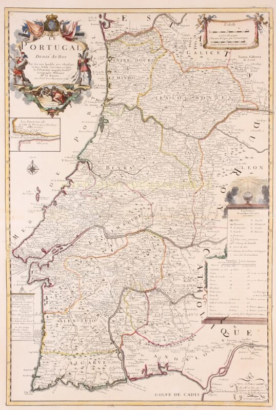 Portugal – Pierre DuVal + Placide de Sainte-Hélène, c. 1700
