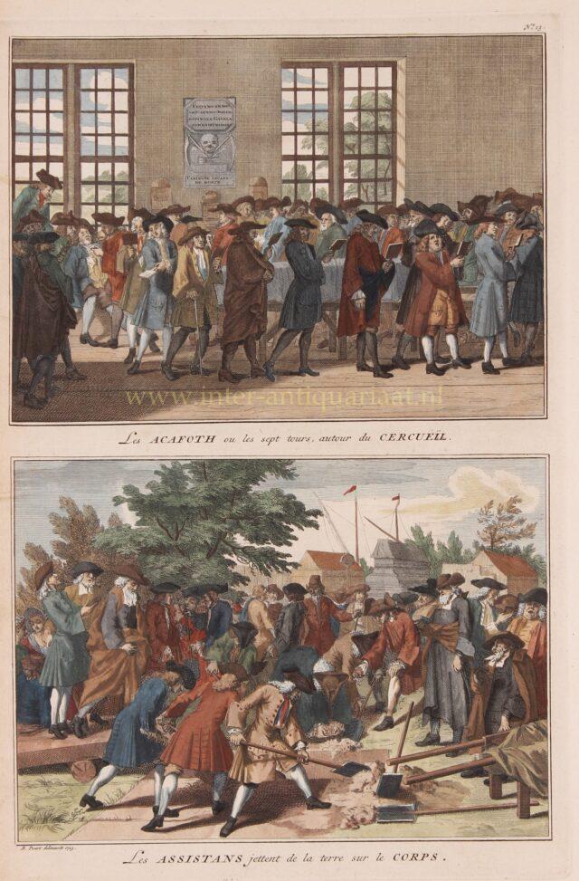Joodse begrafenis 18e-eeuw