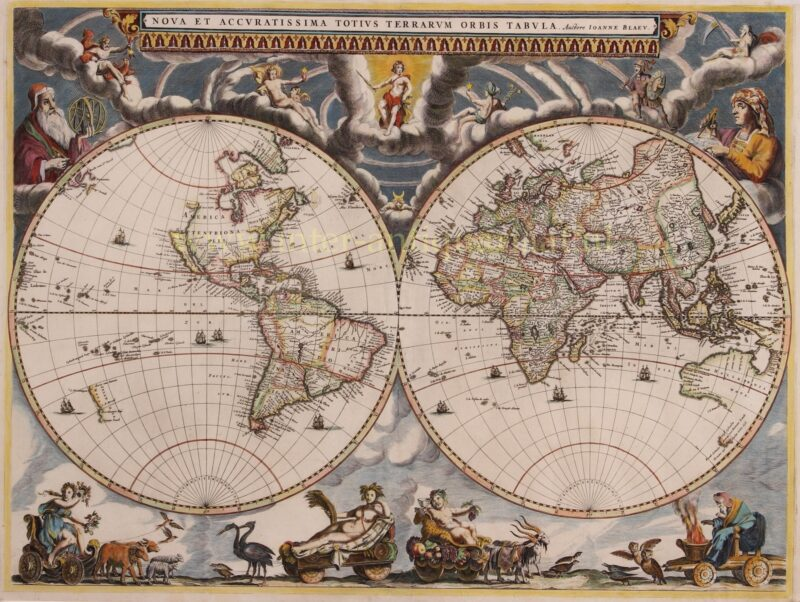 World map – Joan Blaeu, 1662