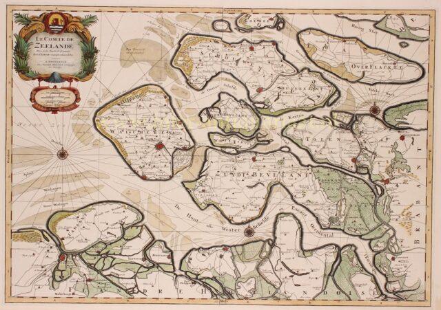 17e-eeuwse kaart van Zeeland