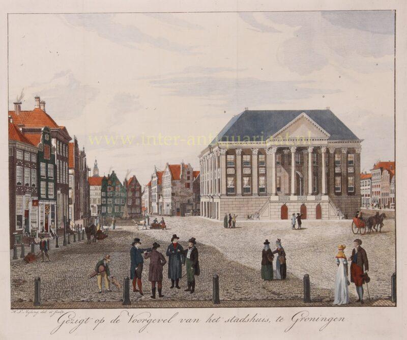 Grote Markt Groningen begin 19e-eeuw