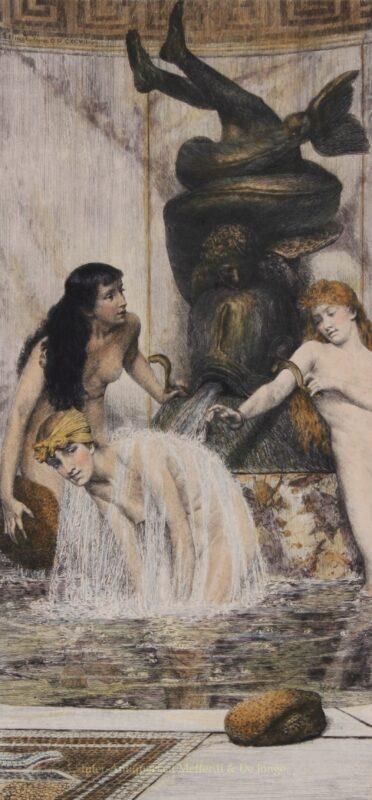 Strigils and Sponges – Lawrence Alma-Tadema, 1880