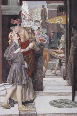 A Parting Kiss – Lawrence Alma-Tadema, 1884