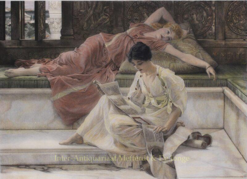 A Favourite Poet – Lawrence Alma-Tadema, 1889