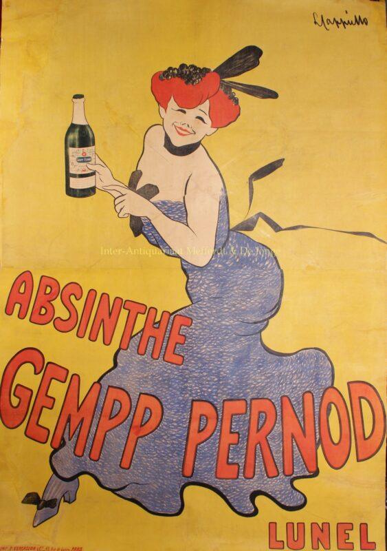 Absinthe Gempp Pernod – Leonetto Cappiello, ca. 1908