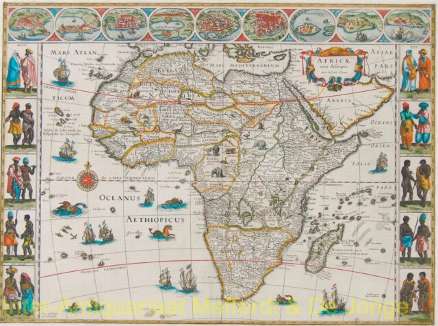 Africa antique map - Bleau