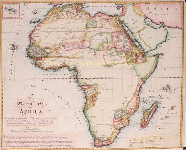 19e-eeuwse kaart van Afrika
