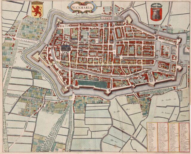 17e-eeuwse kaart van Alkmaar