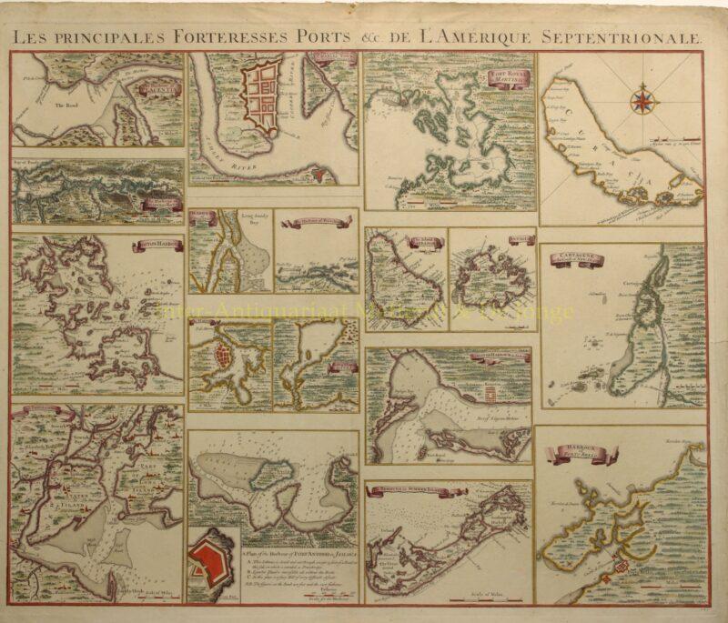 Amerikaanse havens, Caribisch gebied – Covens & Mortier, c. 1740