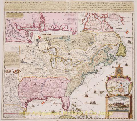 America, Louisiana – Henri Chatelain, 1719