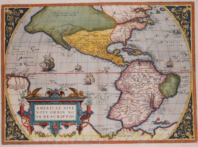 America map - Ortelius