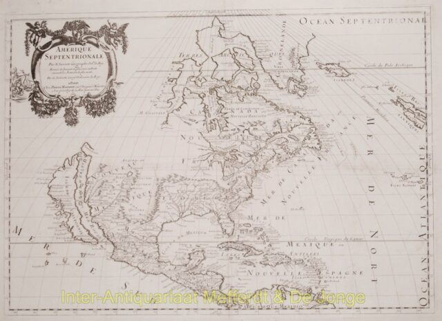 North America antique map - Sanson