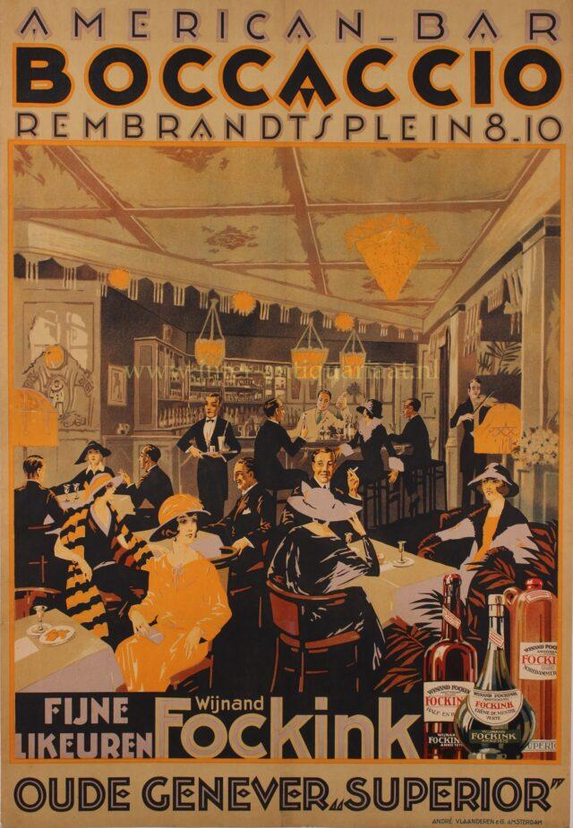 art deco affiche Rembrandtplein
