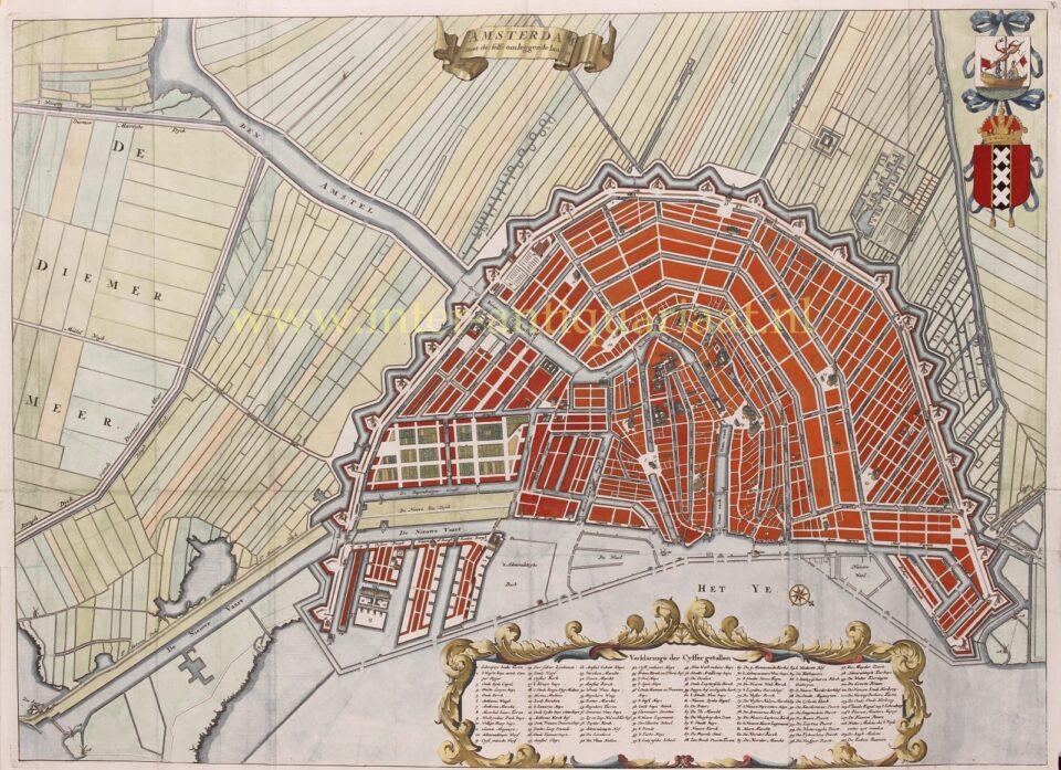oude kaart Amsterdam 17e-eeuw