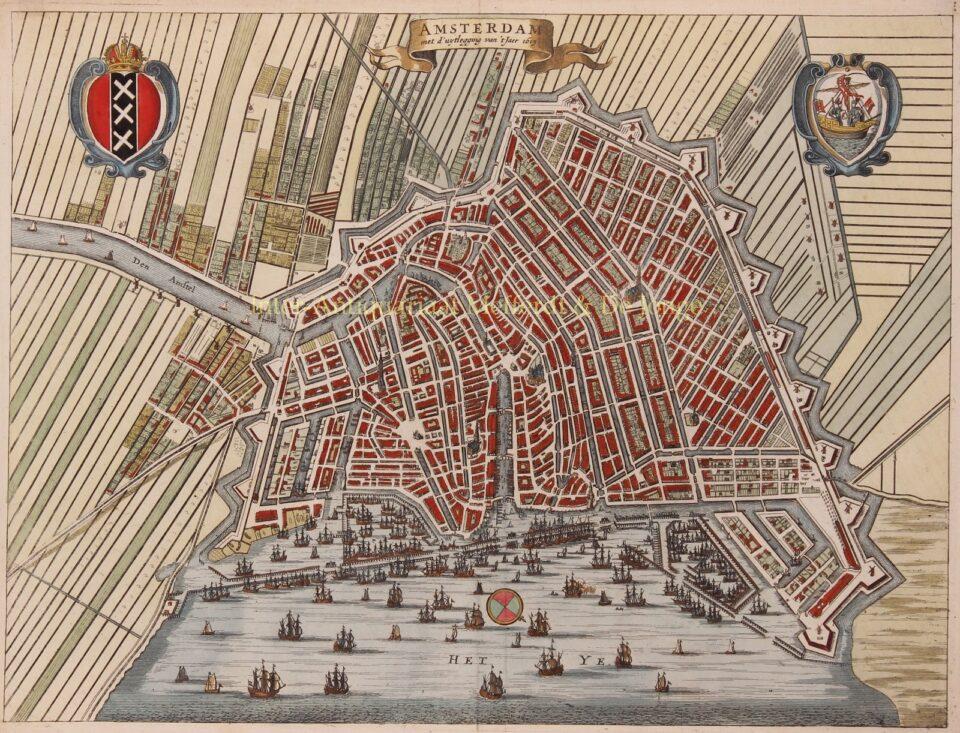 17e-eeuwse kaart van Amsterdam
