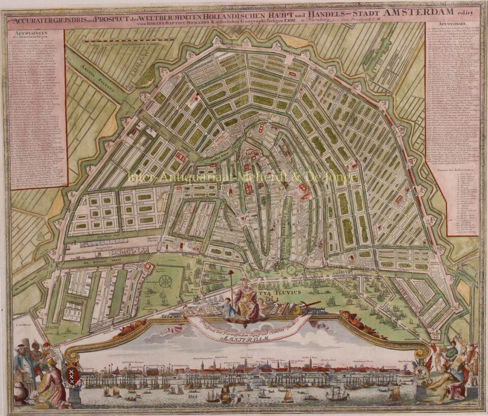antieke kaart Amsterdam