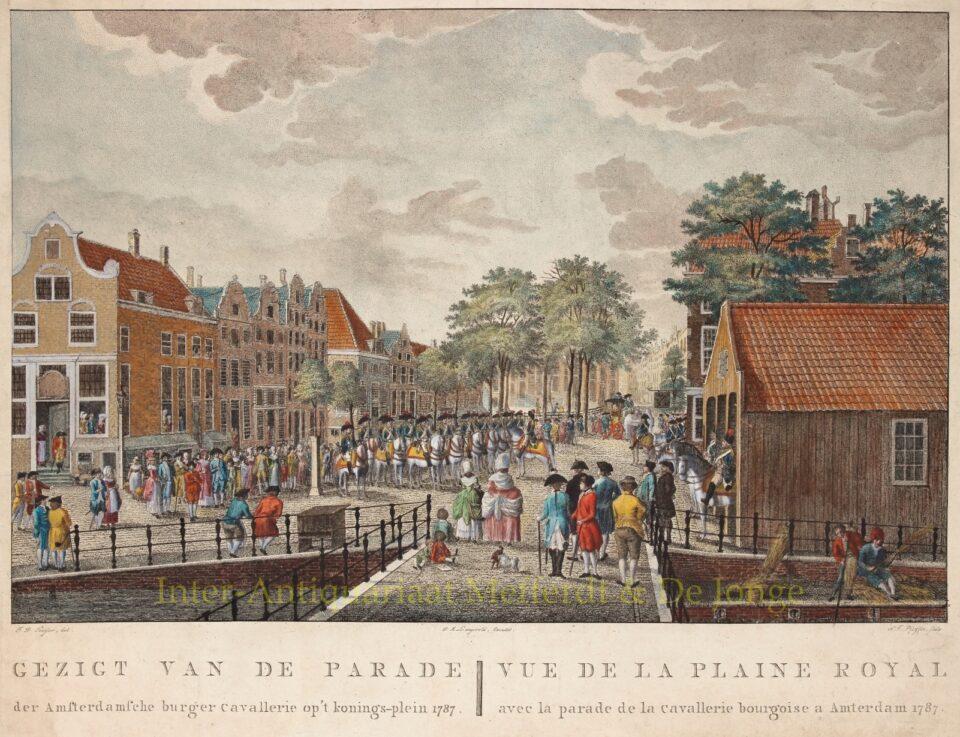 Koningsplein Amsterdam - François Joseph Pfeiffer naar Jean George Teissier